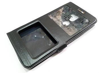 Чехол книжка с окошками momax для Xiaomi Mi 5s Plus черный