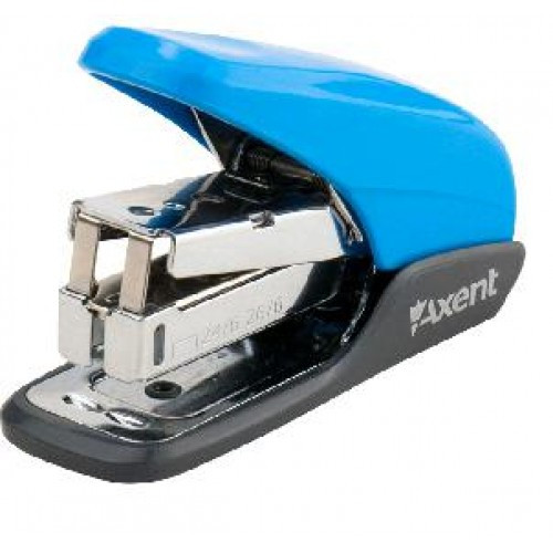 Степлер AXENT (№24 / 6) 4841-07 20арк. пластик. ГОЛУБОЙ Shell PS (1/12)