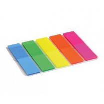 Стикер-закладки AXENT 2440-01 пластик. клейкие 5 Когда. прямые NEON 12х50мм 125шт (1/12)