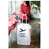 Чехол на чемодан I Love Travel White, фото 1