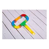 Іграшка дитяча  Кольорова дорога №1  артикул 114/22 (25 шт деталей)ТМ Bamsic,виниловый тубус