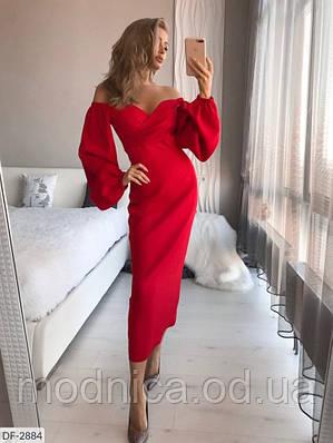 Сукня з об'ємними рукавами різних кольорів, розміри XS, S, M, L