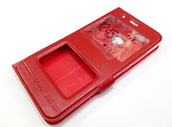 Чехол книжка с окошками momax для Xiaomi Mi A1 / Mi 5X красный