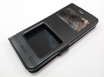 Чехол книжка с окошками momax для Xiaomi Mi 6 черный