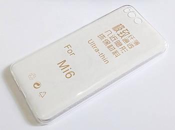 Чехол для Xiaomi Mi 6 (Mi6) силиконовый ультратонкий прозрачный