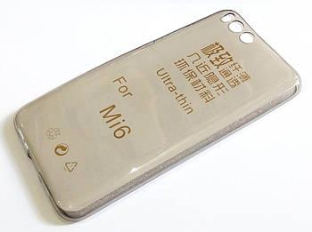 Чехол для Xiaomi Mi 6 (Mi6) силиконовый ультратонкий прозрачный серый