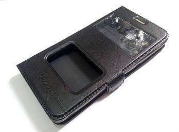 Чехол книжка с окошками momax для Xiaomi Redmi 2 черный