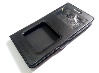 Чехол книжка с окошками momax для Xiaomi Redmi 3 черный