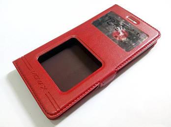 Чехол книжка с окошками momax для Xiaomi Redmi 3 красный