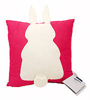 """F1-00526, Подушка декоративна """"Зайчик з пришитими вухами і хвостом"""" Meradiso, , рожевий-бежевий"""