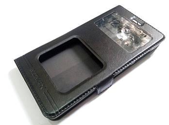 Чехол книжка с окошками momax для Xiaomi Redmi 3x черный