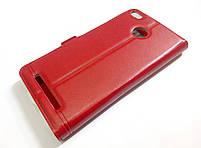 Чехол книжка с окошками momax для Xiaomi Redmi 3x красный, фото 2