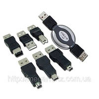 Набор USB переходников 7 в 1 Firewire 1394 AM BM