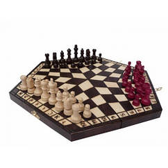 Шахматы Madon тройные средние 35х35 см 64-SAN027, КОД: 1299396