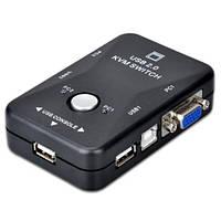 2-портовый KVM свич переключатель компов USB + VGA, фото 1