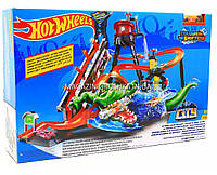 Игровой трек «Hot wheels» (Хот вилс) - Измени цвет Водонапорная башня Сумасшедшая автомойка (FTB67)