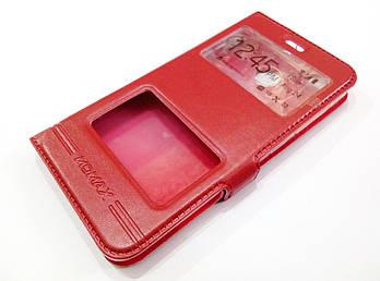 Чехол книжка с окошками momax для Xiaomi Redmi 4X красный