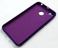 Чехол Silicone Cover для Xiaomi Redmi 4X фиолетовый, фото 2