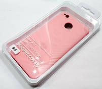 Чехол Silicone Cover для Xiaomi Redmi 4X розовый, фото 3