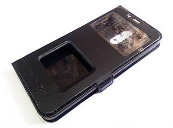 Чехол книжка с окошками momax для Xiaomi Redmi 5 черный