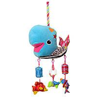 Карусель X15248 на кроватку, кит, подвески-морские животные,погремуш/пищал в куль,23-29-12см