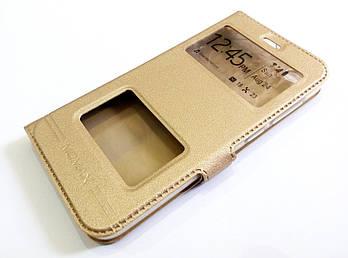 Чехол книжка с окошками momax для Xiaomi Redmi 5A золотой