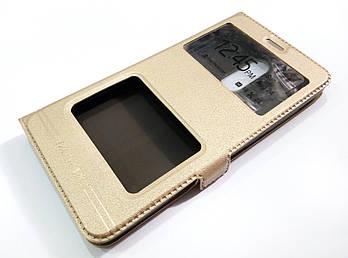 Чехол книжка с окошками momax для Xiaomi Redmi Note 3 / Redmi Note 3 Pro золотой