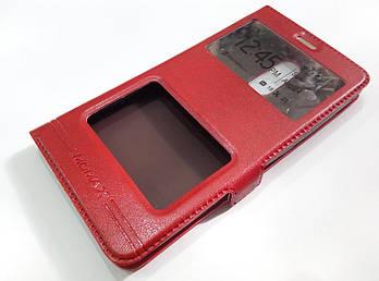 Чехол книжка с окошками momax для Xiaomi Redmi Note 3 / Redmi Note 3 Pro красный