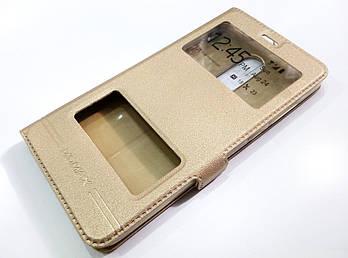 Чехол книжка с окошками momax для Xiaomi Redmi Note 4 золотой