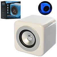 Колонка SG-1741B 12-12-12см, аккум,bluetooth,MP3,6режимов света, USBзарядн, в кор, 16-17-15см