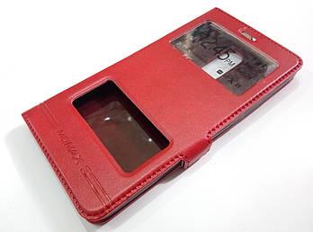 Чехол книжка с окошками momax для Xiaomi Redmi Note 4x красный