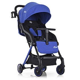 Коляска дитяча ME 1036L MIMI Indigo прогулянкова,книжка,колеса 4шт,чохол, синя