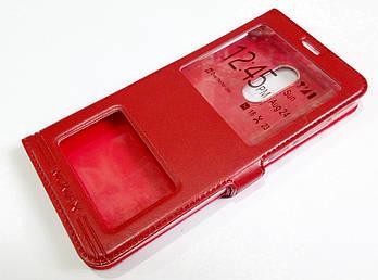 Чехол книжка с окошками momax для Xiaomi Redmi 5 Plus красный