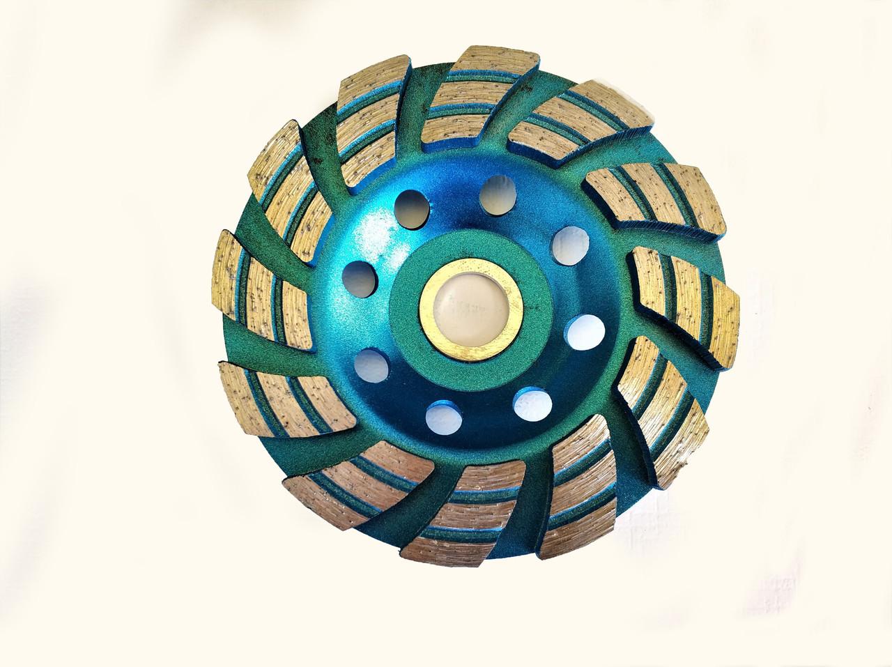 Диск алмазний CRAFT шліфувальний triplex row turbo 125*22,2mm*Т5 - сухе/мокре шліфування бетону, каменю