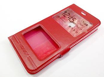 Чехол книжка с окошками momax для Xiaomi Redmi Note 5A красный