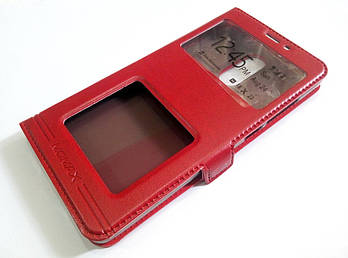 Чехол книжка с окошками Momax для Xiaomi Redmi Pro красный