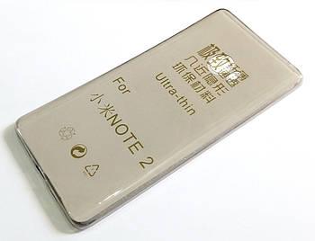 Чехол для Xiaomi Mi Note 2 силиконовый ультратонкий прозрачный серый