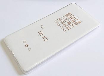 Чехол для Xiaomi Mi Mix 2 силиконовый ультратонкий прозрачный