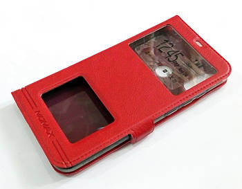 Чехол книжка с окошками momax для Xiaomi Mi A2 Lite / Redmi 6 Pro красный