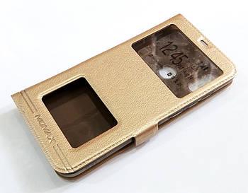 Чехол книжка с окошками momax для Xiaomi Mi A2 Lite / Redmi 6 Pro золотой