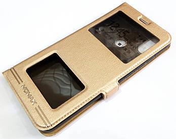 Чехол книжка с окошками Momax для Xiaomi Mi A2 / Mi 6X золотой