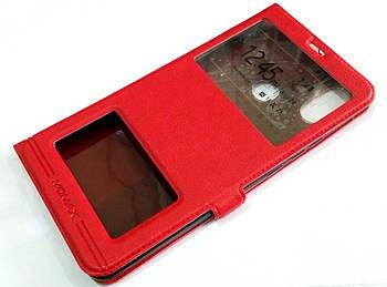 Чехол книжка с окошками momax для Xiaomi Mi Max 3 красный