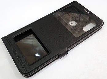 Чехол книжка с окошками momax для Xiaomi Mi Max 3 черный