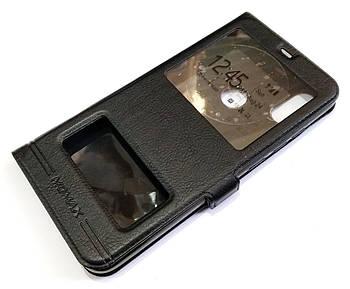 Чехол книжка с окошками momax для Xiaomi Redmi Note 6 Pro черный