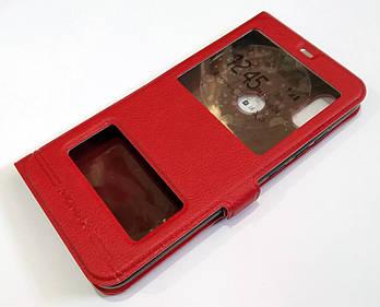Чехол книжка с окошками momax для Xiaomi Redmi Note 6 Pro красный