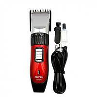 Беспроводная с 2умя аккумуляторами машинка для стрижки волос с керамическими ножами GEMEI GM-550 PRO Оригинал