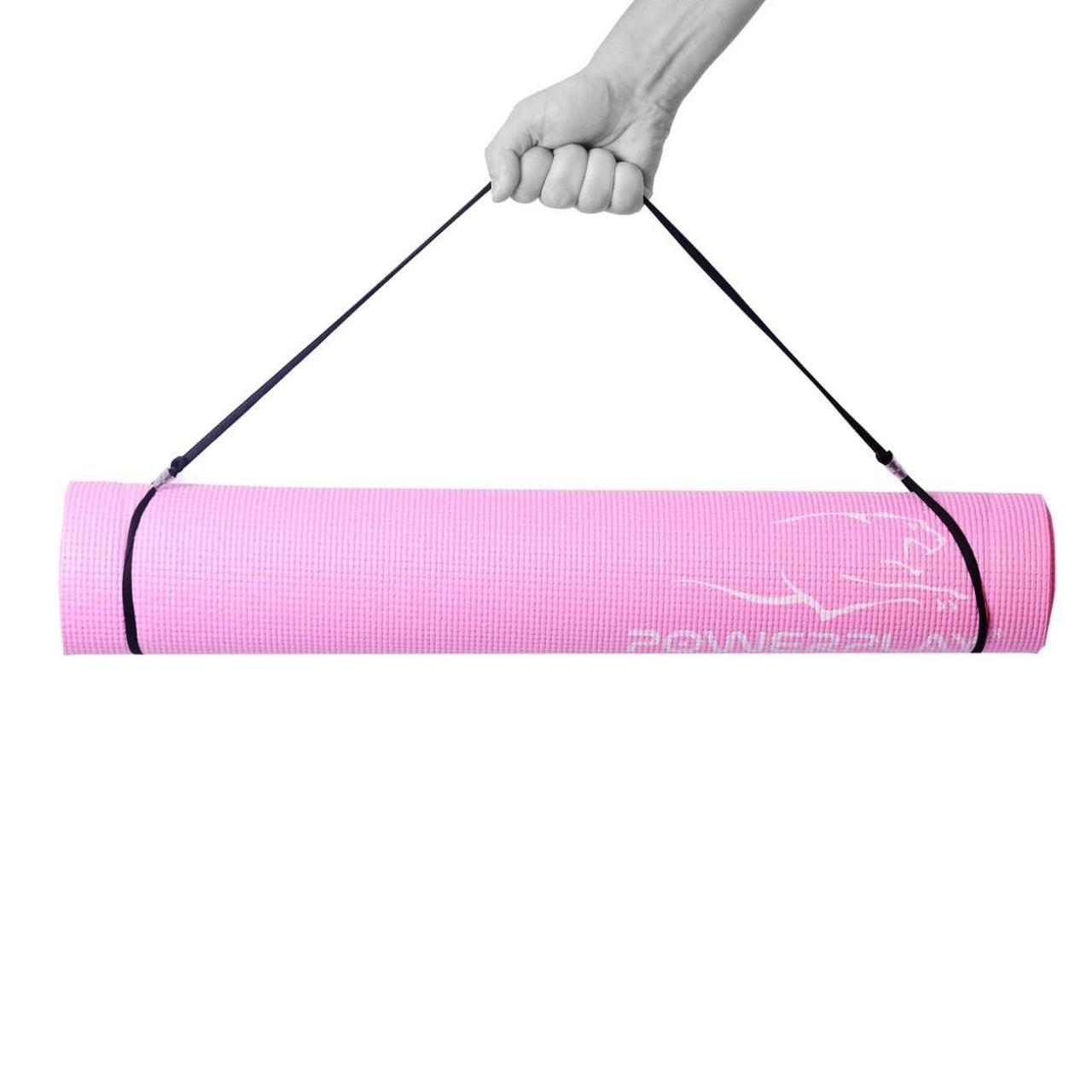 Килимок для фітнесу і йоги 4010, 173х61х0,4 Розовий R143781