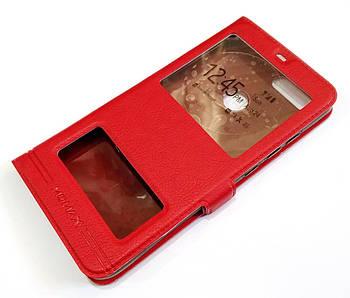 Чехол книжка с окошками momax для Xiaomi Mi 8 Lite красный