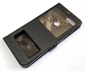 Чехол книжка с окошками momax для Xiaomi Mi 8 Lite черный