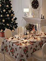 Скатерть Новогодняя Праздничная Испания Рождественский букет, арт.MG-NY134328, 115*115 см, 115*115 см, Прямоугольная